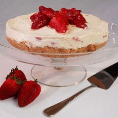 Balsamic Strawberry Cheesecake
