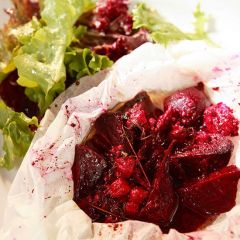 Beetroot & Goats Cheese Parcels