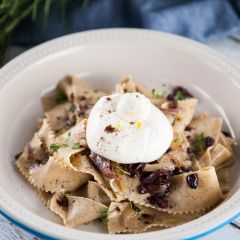 Coffee Pappardelle Pasta