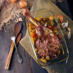 One Tray Roast Lamb and Roast Potatoes