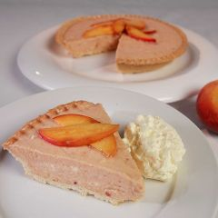 Roasted Peach & Mascarpone Tart