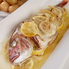 Steamed Fish with hot seasoned chilli oil